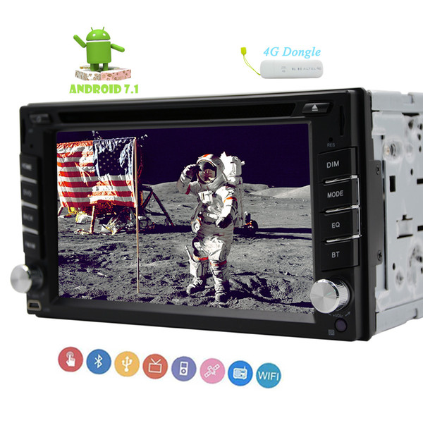 4G Dongle Double din Car Stereo 6.2'' Capacitive Mutli-touchscreen car DVD CD Video Player GPS Navigation in Dash Autoradio Bluetooth