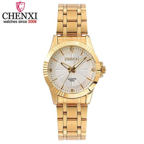 CHENXI Luxo Feminino Relógio De Ouro Relógio De Quartzo Das Mulheres Relógios Jóias Senhoras Correia De Ouro Relógio de Pulso de Moda de Quartzo-relógio das Mulheres