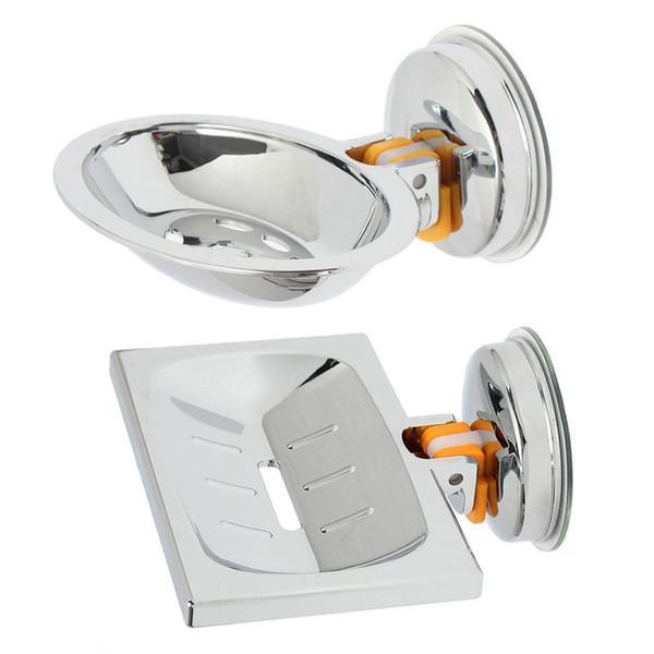 Soap Dish Titular vácuo Ventosa Saboneteira parede de aço inoxidável Montada Titular Sabão para banheiro, chuveiro e cozinha