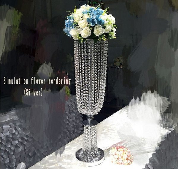 Luxury Shiny Wedding Decor Centerpieces Crystal Beads String Road Lead Party Table Decoration Props Free Shipping