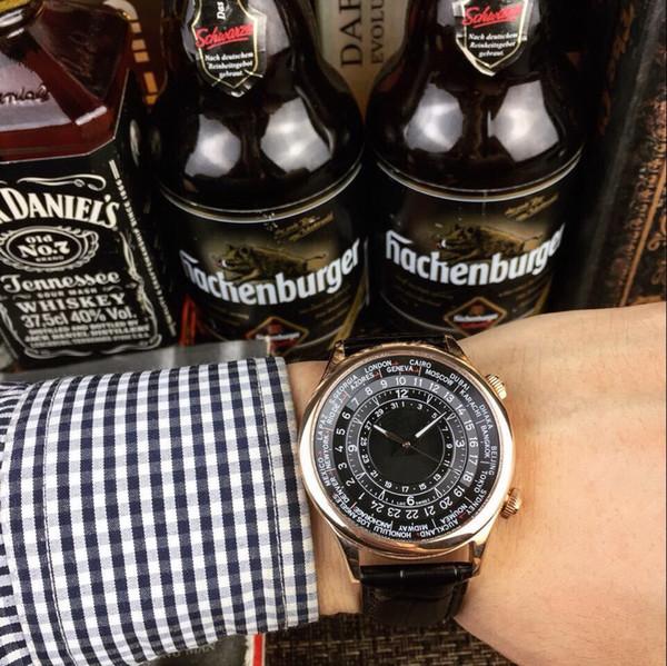 Rose Gold CASE mechanische CHINA MAN automatische AAA Männer Uhr Hohe Qualität Großhandel Luxus Mode Marke neue Edelstahl Herren Uhren