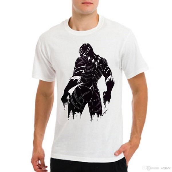 Kaptan Amerika İç Savaşı, Kara Panter, Nijerya Afrika erkek beyaz t-shirt