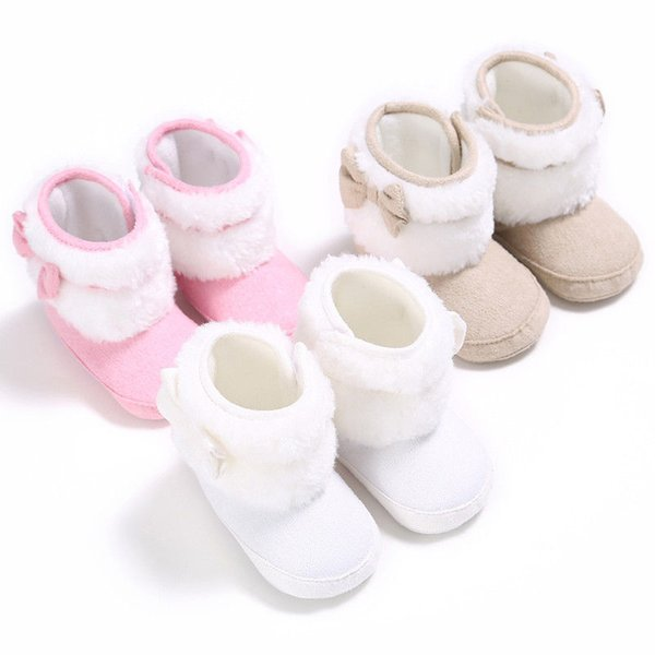 new fashion personality bow wild Newborn Baby Infant Toddler Boy Girl Boots Crib Shoes Bow Prewalkers sweet lovely stylish CH
