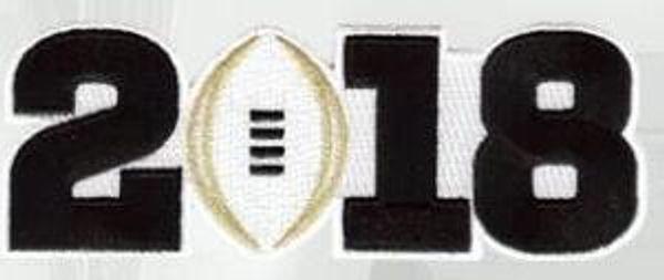 2018 black number patch