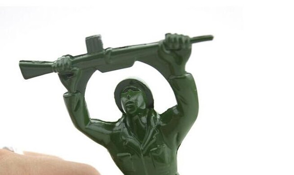Newest party gifts Army Man Bottle Opener Bar Tool Gag Gift Die Cast Metal-Khaki Green