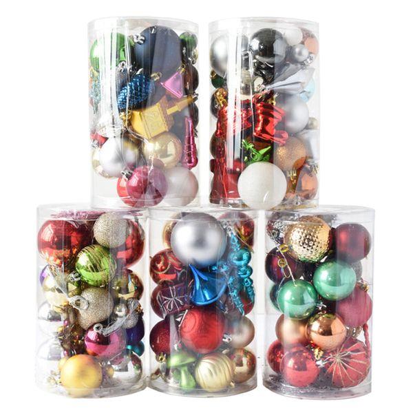 Creative Christmas Hanging Ornaments Set Colorful Printed Christmas Ball Tree Decor Ball Ornament