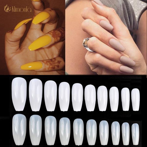 500 Ballerina Nail Tips +100 Plastic Full Coffin Shape French Professional Fake Nails Full Cover Nail Art Tip Square Style Ballerina Lcn Nails Nail