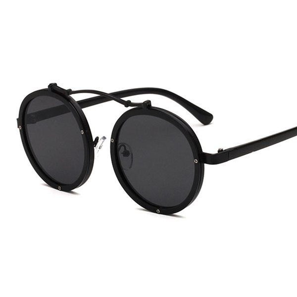 303fa74c5b 2017 Steam punk Round Sunglasses Women Men Retro Goggle Eyeglasses Female  Male Punk Style Mirror Sun Glasses Gafas Oculos De So