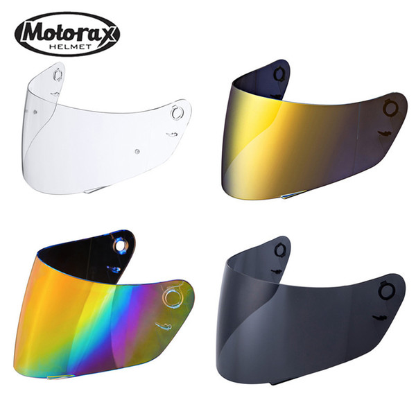 MOTORAX Original Visor Easy Replacement Face Shield Glass Lens Clear Tinted Gold Smoke Colors for Motorax Full Face Helmets