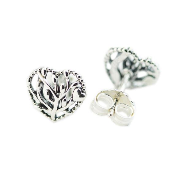 2018 Été 925 Sterling Silver Coeurs Boucles D'oreilles Pour Les Femmes D'origine Bijoux Faire Anniversaire Cadeau En Gros