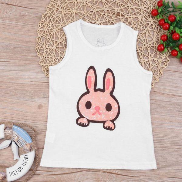 top popular Child Kids Shirt Cute Cartoon Animal Infant Boys Girls Tanks Tops Summer Sleeveless Vest Tees Newborn Baby Clothes 2021