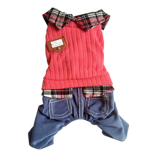 All'ingrosso belle quattro gambe 2 pezzi morbido maglione per animali Vestiti, animali maglione cappotti Designer di lana outwears blu scuro S-XL