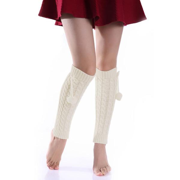 1 paar Frauen Damen Beinlinge Winter Warme Fuß Mode Gestrickte Stiefel Socken Häkeln Baggy Knit Toppers Boot Sockenmanschetten AIC88