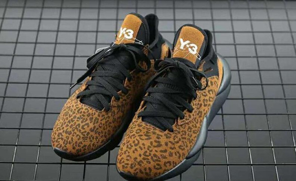 Free Shipping High Quality Y-3 Kaiwa Chunky Sneakers Men Women Kazuhuna Leopard Print Dad Running Shoes Come With Box