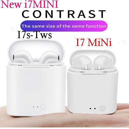 I7S Mini TWS Bluetooth 5.0 Cuffie auricolari wireless Cuffie auricolari doppie con scatola di ricarica per telefono con pacchetto di vendita al dettaglio