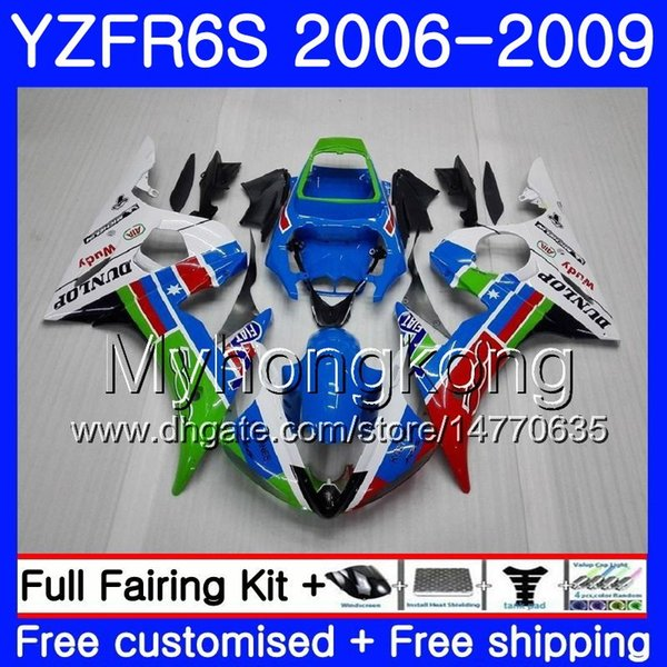 Body For YAMAHA YZF R6 S R 6S YZF600 Blue white frame YZFR6S 06 07 08 09 231HM.23 YZF-600 YZF R6S YZF-R6S 2006 2007 2008 2009 Fairings Kit