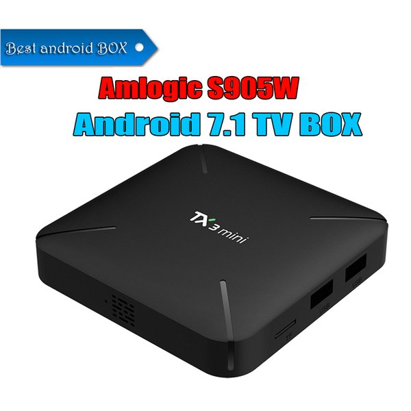 Best TX3 Mini TV BOX 1GB 8GB 2GB 16GB Quad Core Amlogic S905W Smart Box Android 7.1 TV Streaming Boxes 4K Media Player