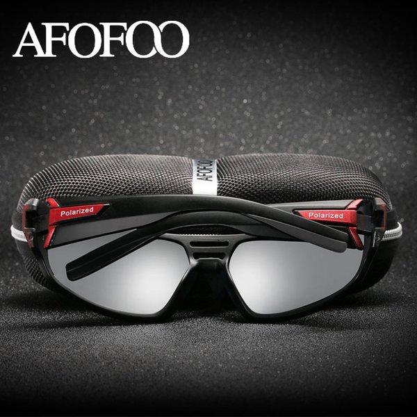 AFOFOO Marca Diseño Gafas de Sol Polarizadas Gafas Hombres Conducción Gafas  de Sol Cuadrado Noche Gafas de Visión Gafas UV400 Gafas 783cf90add38