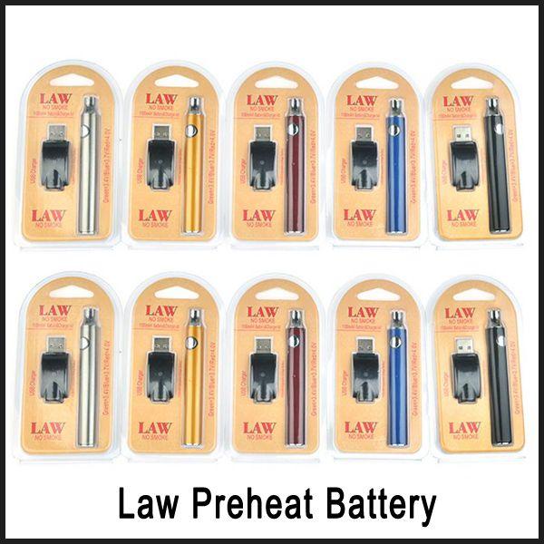 Gesetz Vorheizen Batterie Blister Ladegerät Kit 1100mAh Vorheizen O Pen Bud Touch Variable Voltage Batterie Vorheizen für CE3 G2 G5 Patronen DHL