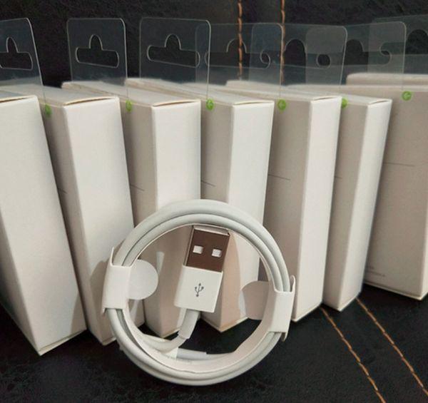 مع مربع التعبئة والتغليف الأخضر العلامة الأصلية جودة USB شاحن كابل 1M 3Ft للهاتف i5 6 7 8 × سامسونج مايكرو S4 S6 S7