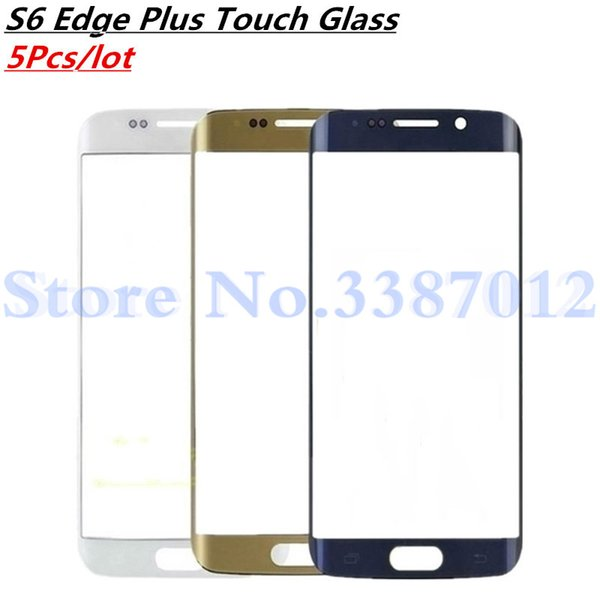 5Pcs/lot For Galaxy S6 Edge Plus S6Edge Plus G928 G928F Touch Screen Digitizer Outer Glass Repair Parts