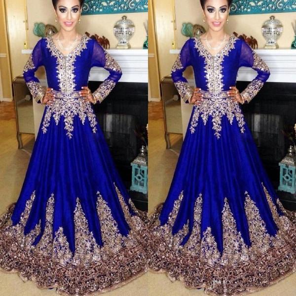 Long Sleeve Navy Blue Dubai Kaftan Muslim Dress Islamic Abaya Lace Embroidery Arabic Prom Dress Evening Gown Moroccan Kaftan