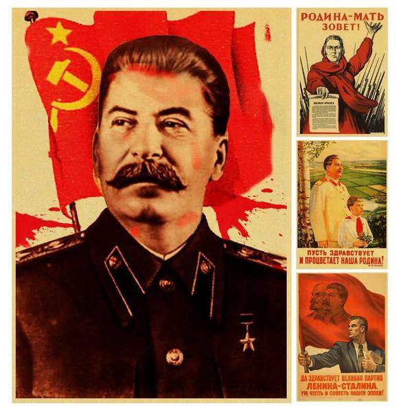 World war II Russian Comrade Stalin Leninist political propaganda Soviet Union USSR CCCP poster Retro wall Poster decor