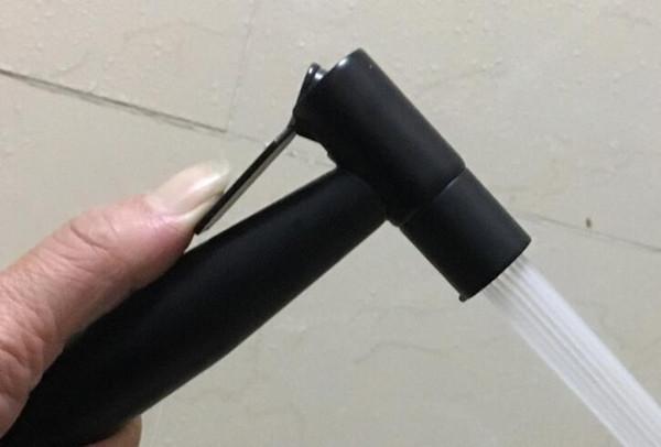 top popular 304 solid Stainless Steel matte black color black Toilet Hand held Bidet Shower sprayer Bidet shower Sprayer Douche kit Jet BD888 2021