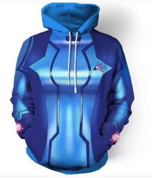 Новая мода пара унисекс фильм Metroid премьер Самус ноль косплей 3D печати толстовки свитер толстовка куртка пуловеры