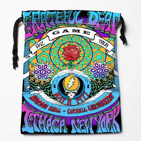 El nuevo llega a Grateful Dead Bolsas con cordón Bolsas de almacenamiento personalizadas Regalo impreso Más Tamaño 27x35cm Haz tu foto