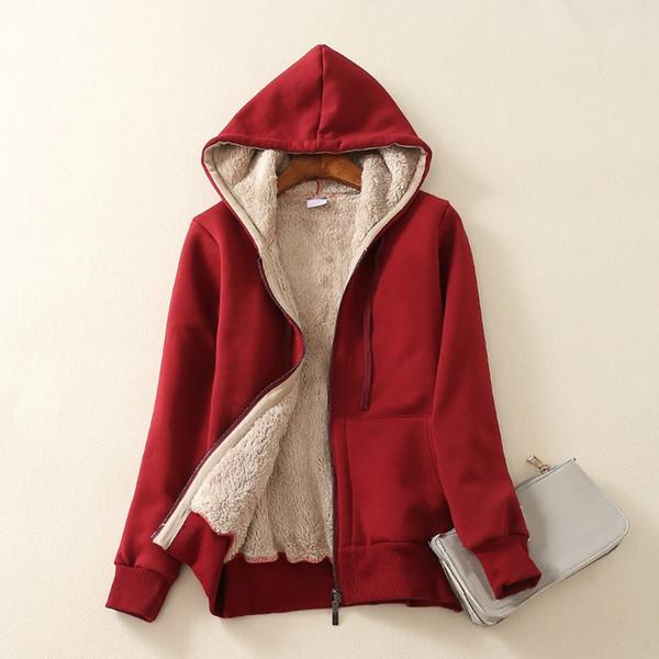 Winter Womens Basic Bomber Jacket Cashmere Velvet Parka Women Coats Pockets Fashion Women Long Sleeve Casual Coat