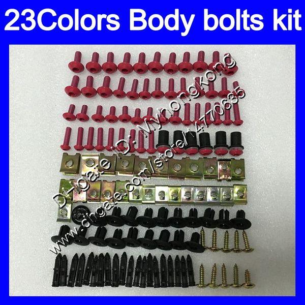 Kit completo de tornillos de carenado Para KAWASAKI NINJA ZX11R 90 91 92 ZX-11R ZX11 R ZZR1100 1990 1991 1992 Tuercas de cuerpo tornillos tuercas kit de tornillos 25Colores