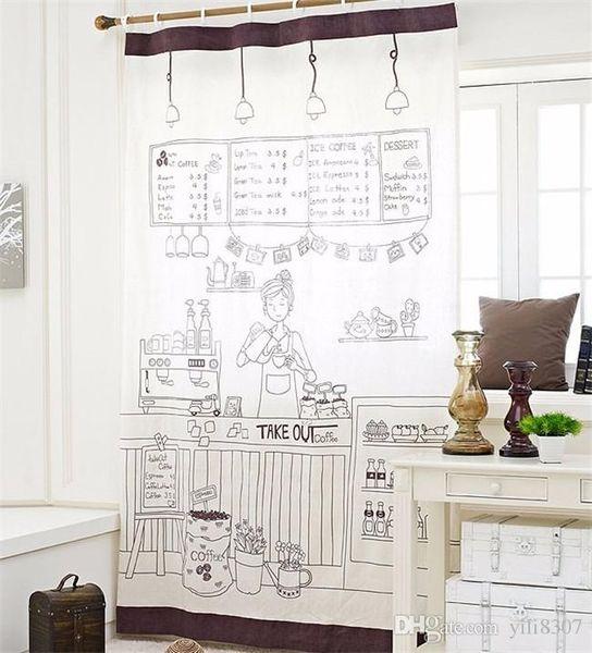 Tende di portello all'ingrosso della cucina di lusso Poliestere americano europeo caffè ragazze tende per camera da letto tende pannello di tenda della finestra