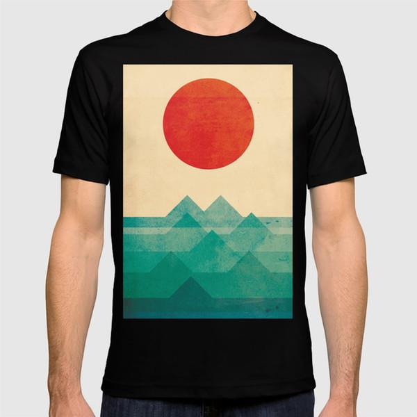 2018 новая футболка океан, море, рубашка с волнами