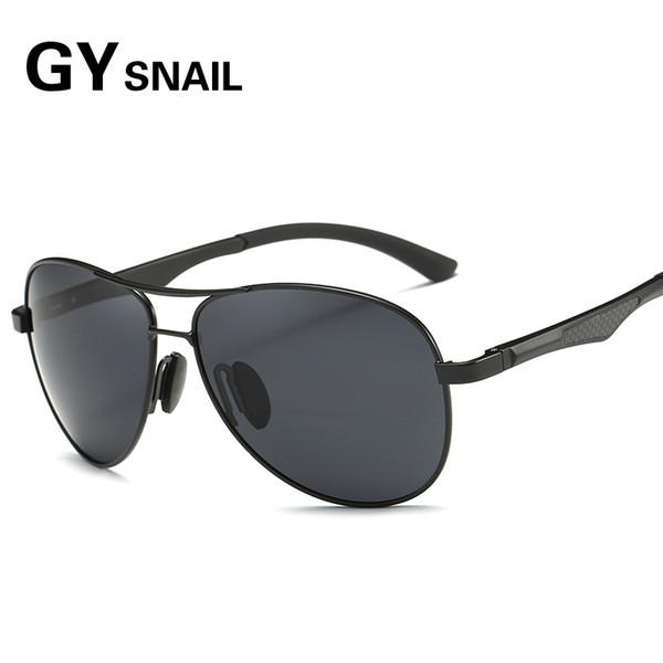 GYsnail luxury brands Pilot Polarized Sunglasses Men Women Aluminium Magnesium Sun glasses For Male Men's Mirror glasses driver