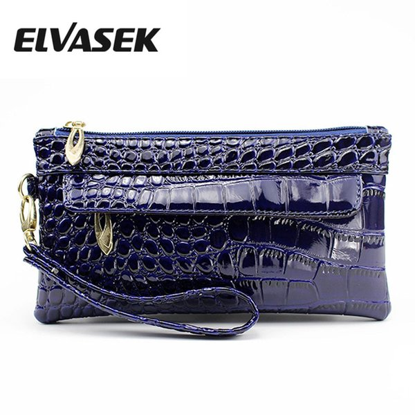 ELVASEK Hot Sale Women's Bag Casual Handbag Mobile Phone Long Zippers Coin Purses Wallet Small Square Bag A9841/I