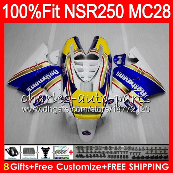 Injection For HONDA MC28 PGM4 NSR250R 94 95 96 97 98 99 79HM.6 NSR 250 NSR250 R NSR Rothmans HOT 250R 1994 1995 1996 1997 1998 1999 Fairing