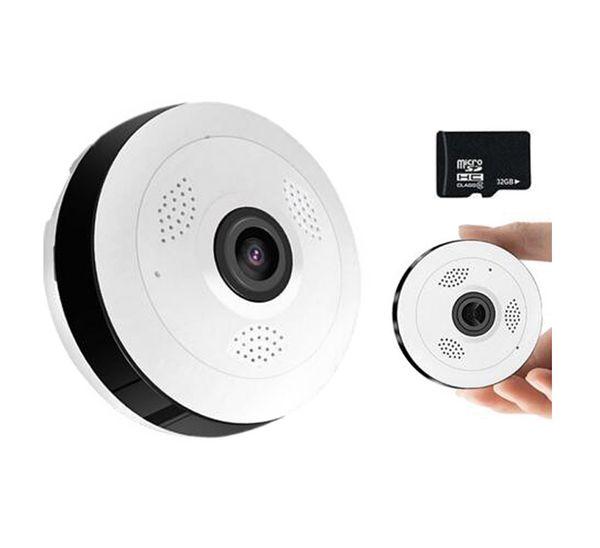 Caméra de surveillance Wifi Wifi Mini Caméra de vidéosurveillance IP sans fil panoramique à 360 degrés Caméra de vidéosurveillance IP panoramique 1.3MP / 2MP / 4MP 960P / 1080P
