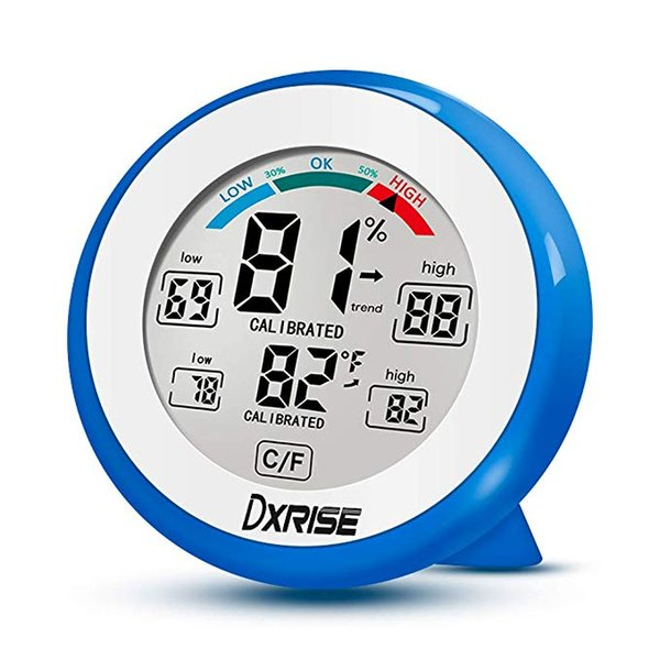 Medidor de humedad digital Medidor de humedad interior y humedad en interiores Medidor de monitor con monitor preciso Lectura clara