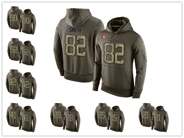 quality design 9f2e2 4ed82 2018 Mens San Francisco 49er Hoodie 10 Jimmy Garoppolo ...
