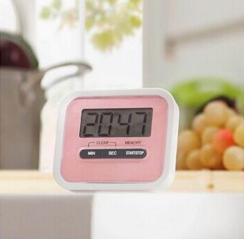 Free shipping by dhl Christmas Gift Digital Kitchen Count Down/ Up LCD display Timer /clock Alarm with magnet stand clip lin3433