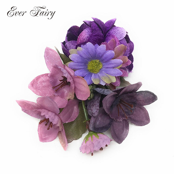 EVER FAIRY Wedding Simulation Flowers Hair Clips Handmade Photography Props Children Hairpin Brooch Hair Accessories