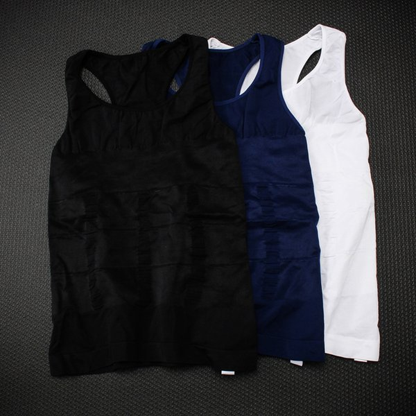 Men's Body Shapers Fitness Tank Tops Slimming Vest Basic Shirt Sexy Elastic Beauty Abdomen Tight Fitting UnderShirts Shape Vests