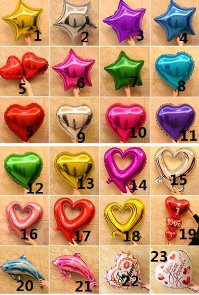 Romantic Wedding Balloons Aluminum Coating Festival Brithday Party Anniversary Supplies Cheap Heart And Star Balloon Decoration 50 PCS