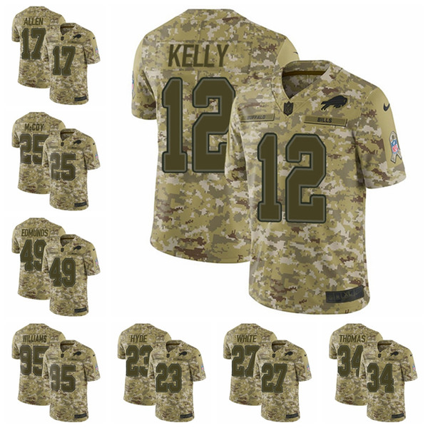 newest collection 5cdc6 ddbca 2019 Buffalo Camo Bills Limited Football Jersey 2018 Salute To Service 17  Josh Allen 27 Tre'Davious White 49 Tremaine Edmunds From Goodtopnew7,  $31.48 ...