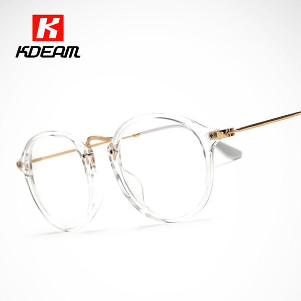 Klassische Weinlese-transparente Glas-runde Unisexnerralbrillen-Rahmen-klare Gläser lunette de vue de Grau mit Kasten