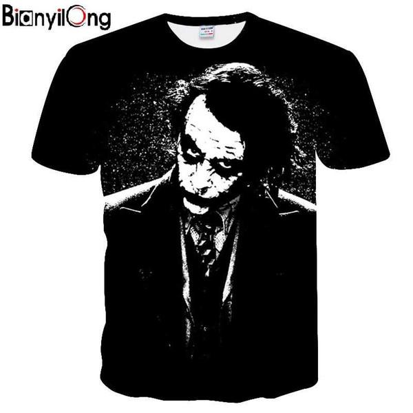 2018 t-shirt hommes 3D Joker Hommes T-shirts Film imprimé T-shirts Été À Manches Courtes Col Rond Tops Joker T-shirts Décontractés