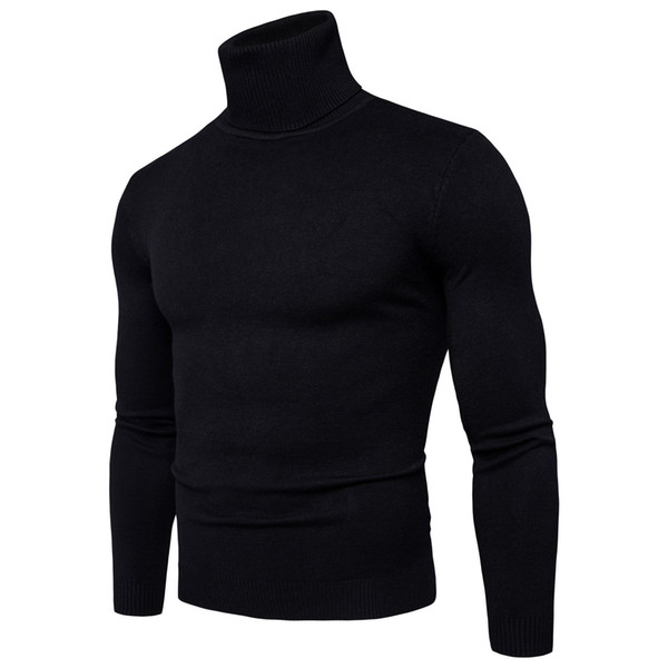 best selling Sweater Pullover Men 2018 Male Brand Casual Slim Sweaters Men High Quality Solid Color Hedging Turtleneck Men'S Sweater