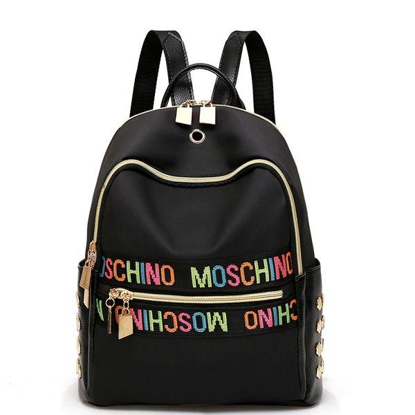 Sac à dos pour femme Nylon Girl School Bag Haute Qualité Dames Sacs Designer Bolsas masculina harajuhku mochilas USB