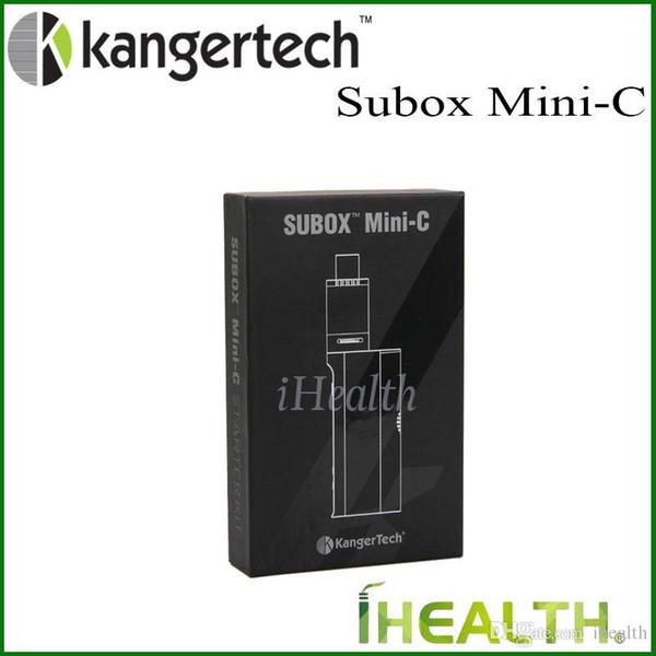 Kanger Subox Mini-C Başlangıç Kiti 50 W KBOX Mini-C Mod Değiştirilebilir 18650 Hücre ile 3 ml Subtank Mini-C Tankı 100% Orijinal Subox Mini C Kiti